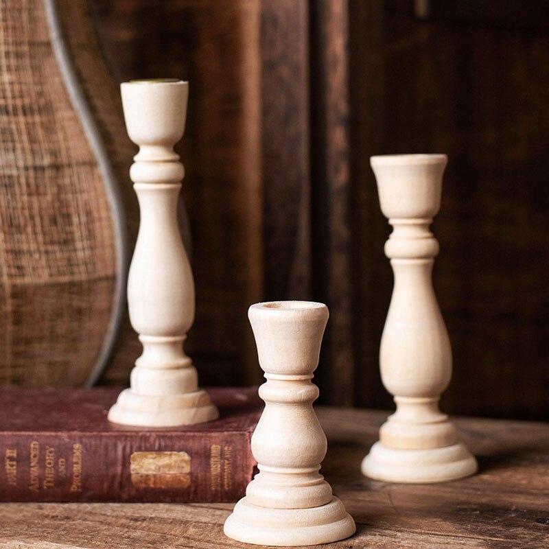 4/6. Candelero de madera para boda de 88in, candelabro de boda, candelabro alto vintage, candelabro de Pilar, centros de mesa de boda, decoración del hogar