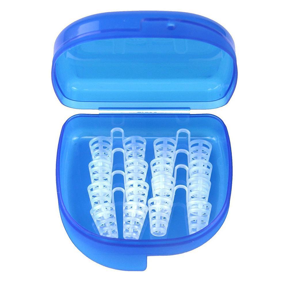 BellyLady 8 unids/set Snore-ceasing Silicon Stopper nariz cliprinitis tratamiento Snoring Terminator respira suavemente caja portátil