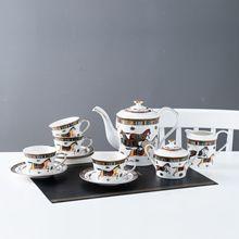 European Ceramics Teapot Fine Horse Afternoon Tea Bone Porcelain Coffee Cup Dish Suit Shop
