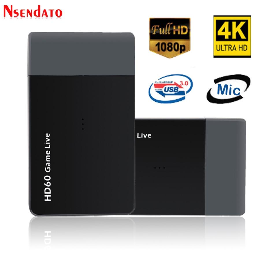 EZCAP 261M USB 3.0 HD60 4K لعبة فيديو التقاط المنتزع 1080P لعبة فيديو بث مباشر محول سجل لكاميرا XBOX One PS4