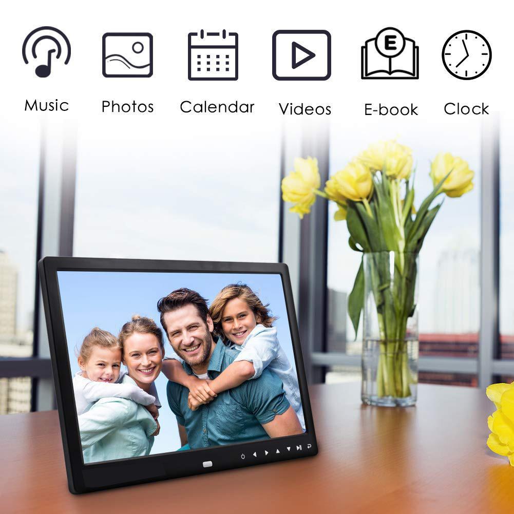 EastVita 12 дюймов 1080P HD цифровая фоторамка и пульт дистанционного управления