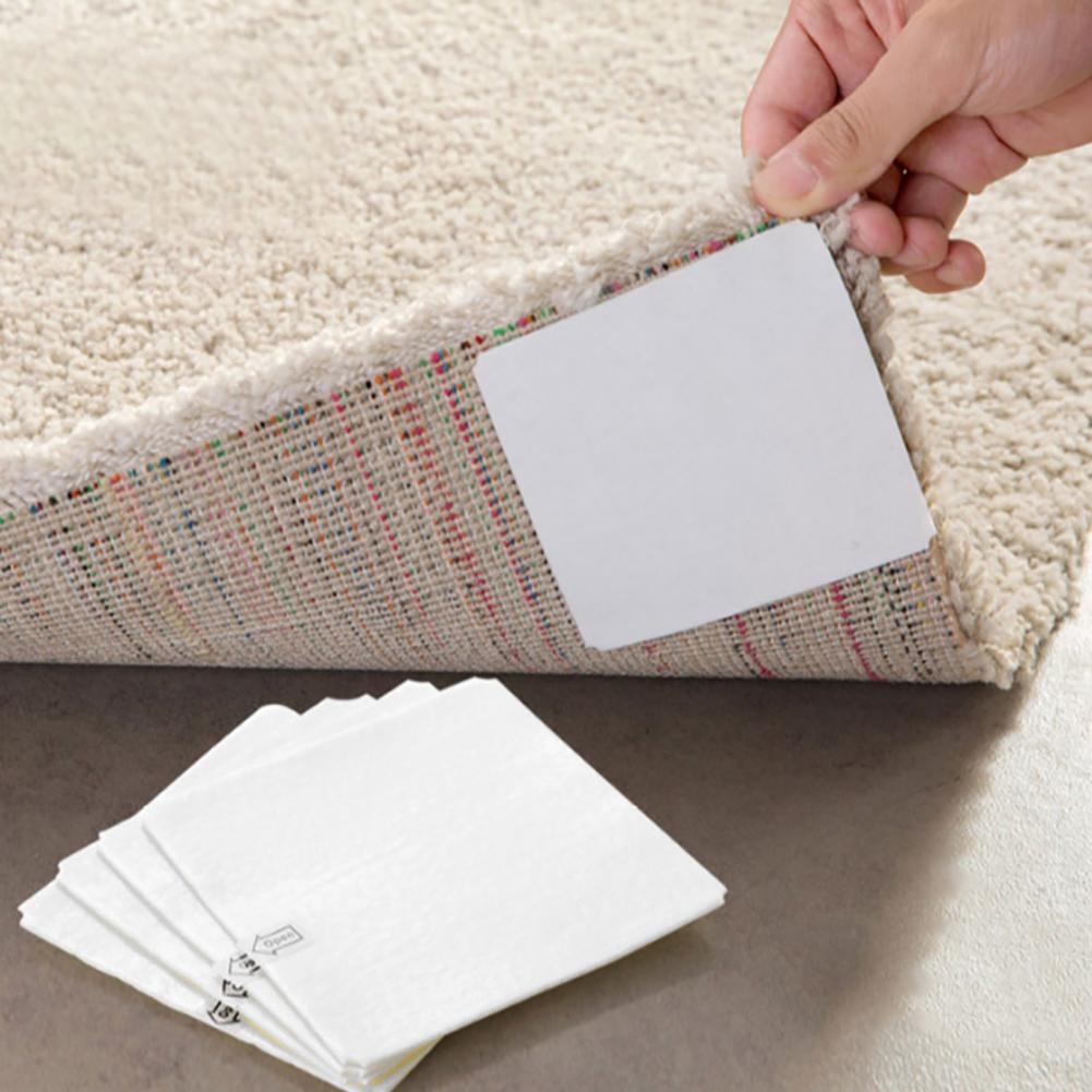 10*10cm 4 pces adesivo antiderrapante tapete não tecido fita adesivo pinça colar acessórios para casa de banho toalete piso
