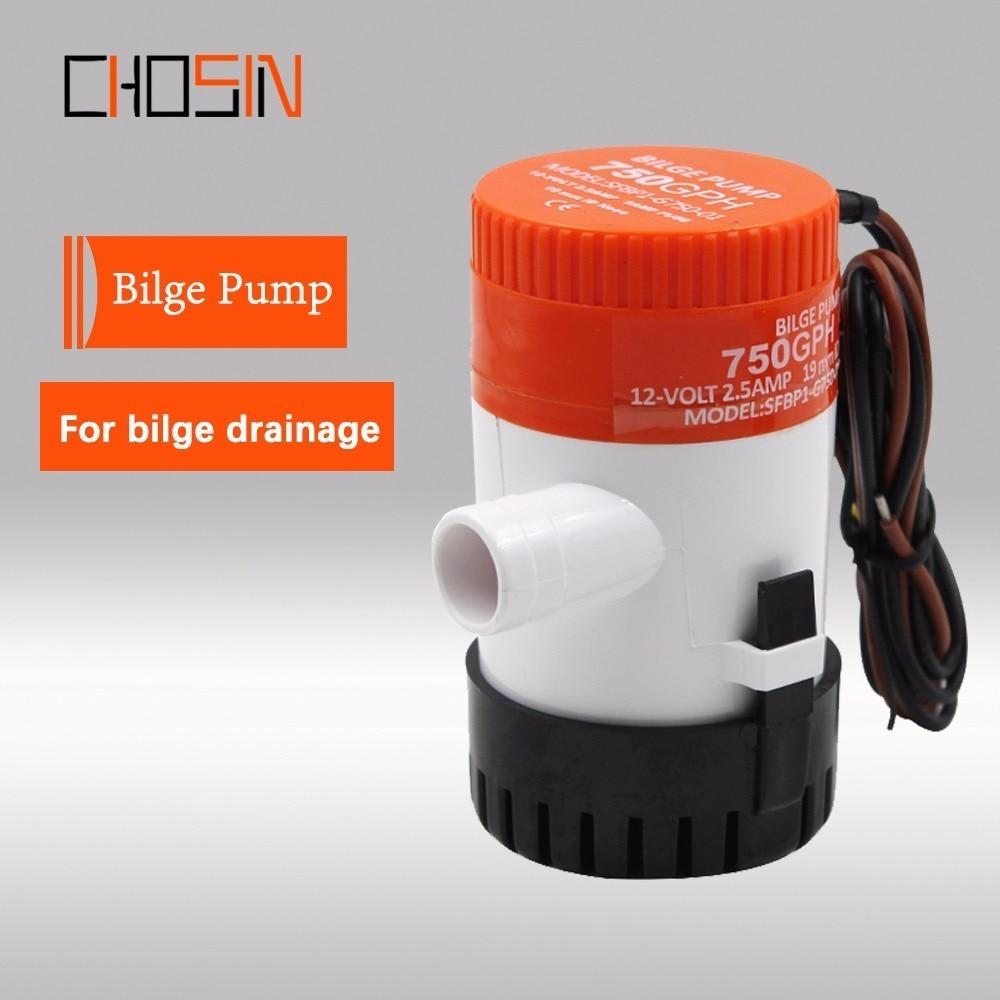 (Envío gratis) 1100gph 750gph 500gph 350gph 12v 24vdc Mini bomba de achique sumergible de alto flujo
