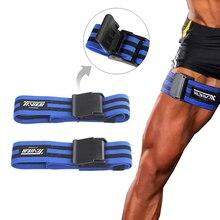Bodybuilding pierna oclusion restricción de flujo sanguíneo correas de resistencia para entrenamiento Kaatsu correas gimnasio Fitness equipo