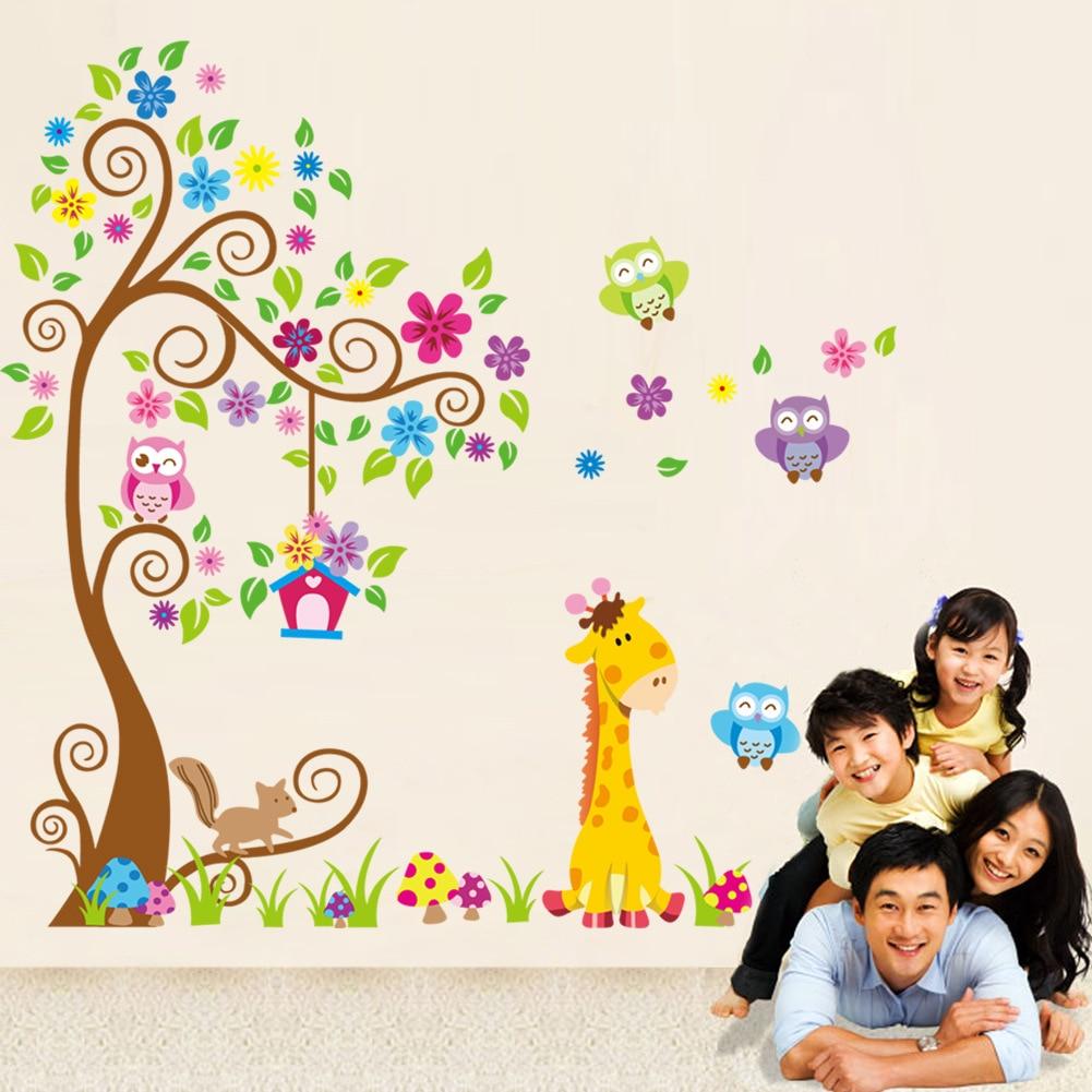 Decoración de pared impermeable de animales para habitación de niños y jardín de infantes WXV