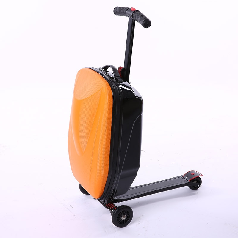 Promotion Hot Sale 2019 New Style Kids Lovely Mini Travel Trolley Creative Convenient Luggage Multi-Function Skateboard Suitcase