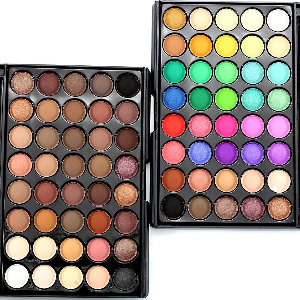 Popfeel 40 Colors Eyeshadow Eyeshadow Pallete Matte Glitter Eyeshadow Palette of Shadows Make Up Palette With Brush Eye Makeup
