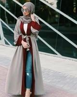 dubai abaya maxi dress muslim kimono jilbab open front robe women long sleeve cardigan islamic cocktail party arab gown ramadan