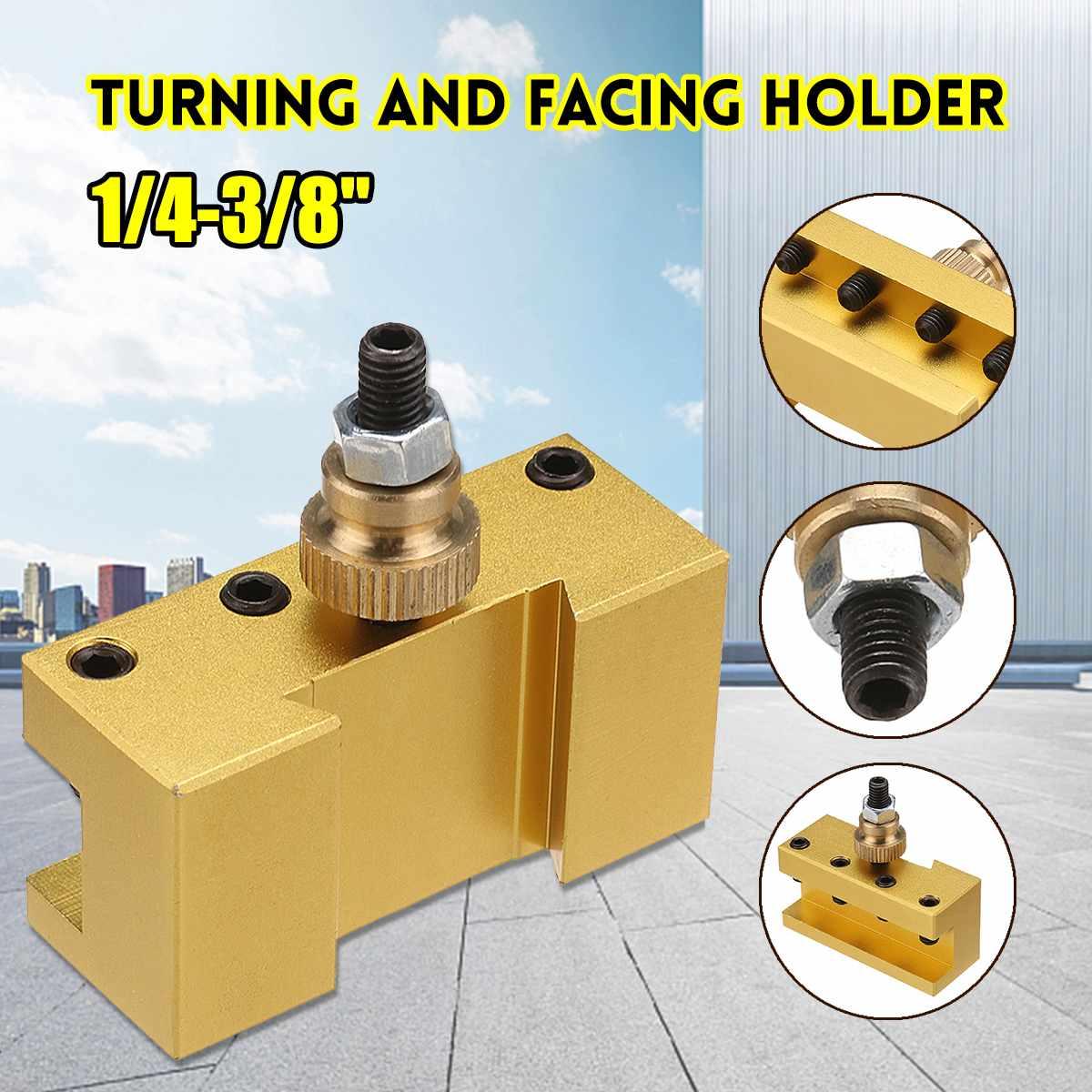 1/4-3/8 pulgadas 20x25x50mm aluminio giratorio y soporte frontal para Cambio rápido herramienta poste titular oro