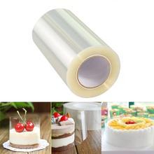 Outils de décoration pour gâteaux   Mousse transparente 10M, bords enveloppés de Dessert autour de la cuisson, Film borné, bande de bords de gâteau, bricolage