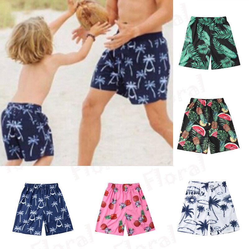 Bañadores cortos con estampado de piña para hombre, bañadores, ropa de playa de verano para padres e hijos, traje de baño