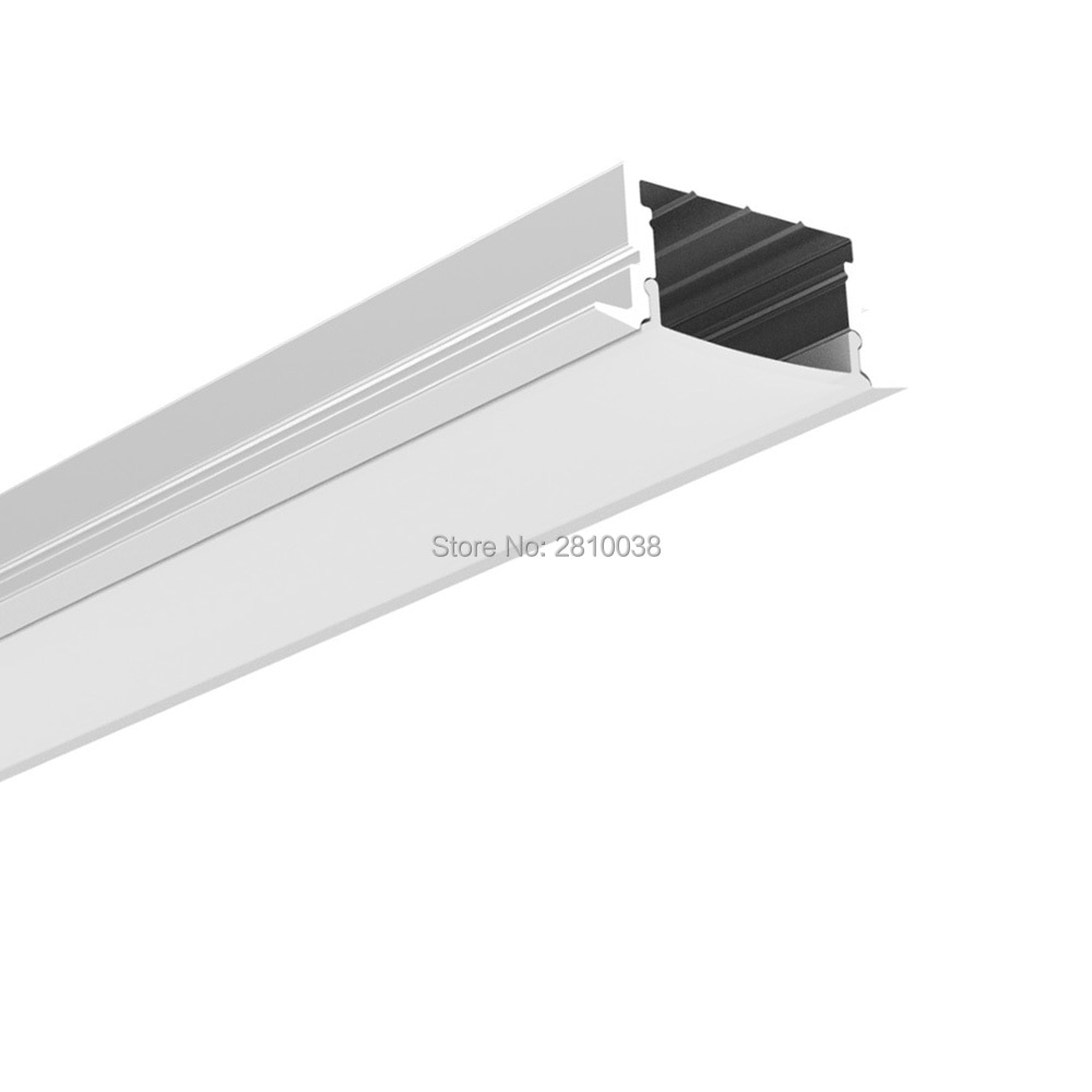 300 X 1M Sets/Lot Linear flange led profile housing T Size aluminium profile led channels for ceiling mounted wall lights
