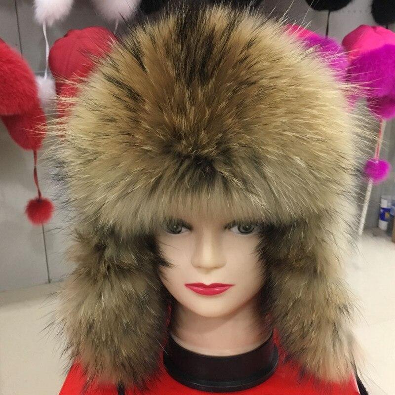 ¡Novedad de 2018! sombrero de piel de zorro Real para mujer, piel de zorro de abrigo para invierno, gorro Leifeng, auténtico bombardero, sólido, cálido, con orejas, piel de zorro entero, sombreros