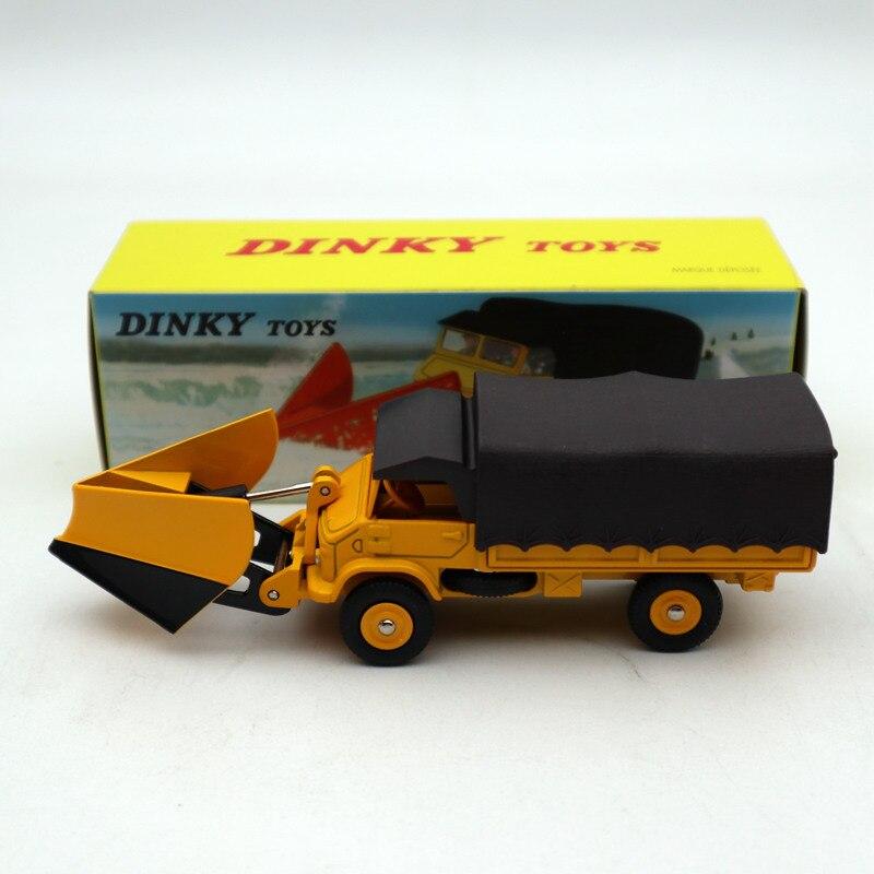 1/43 Atlas Dinky 567 CHASSE-NEIGE Unimog Snowplough MERCEDES-BENZ modelos de juguetes de fundición Colección de Edición limitada