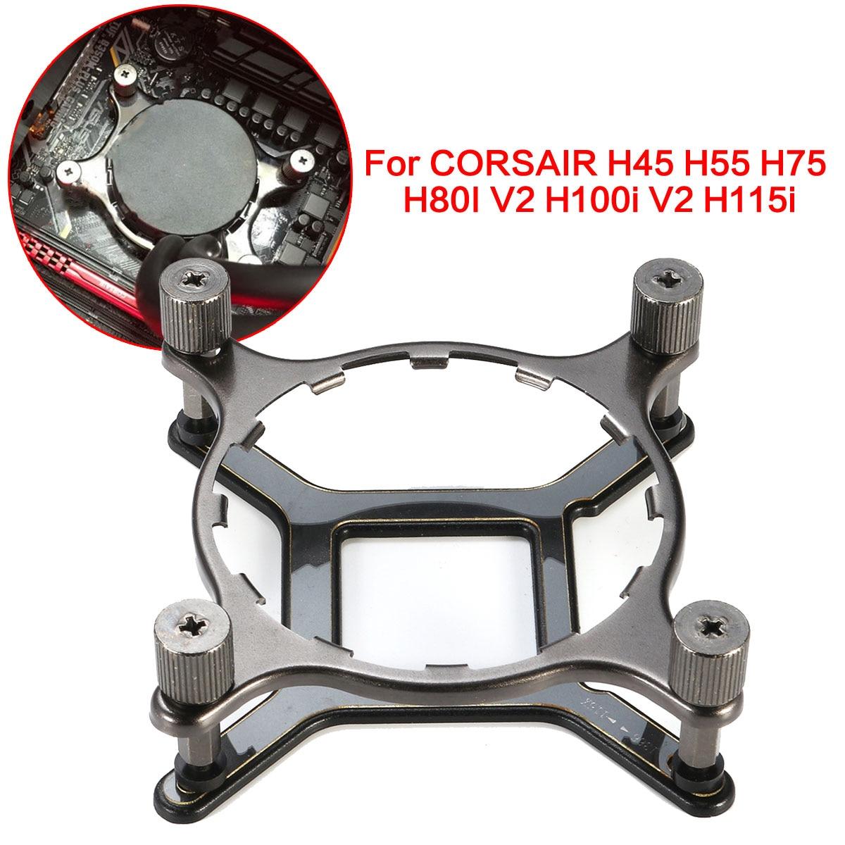 115x 1366 Water Cooler Mounting Bracket Hardware Kit For CORSAIR H55 H75 H80I V2 H100i V2 H115i For Intel LGA 1150 1155 1156