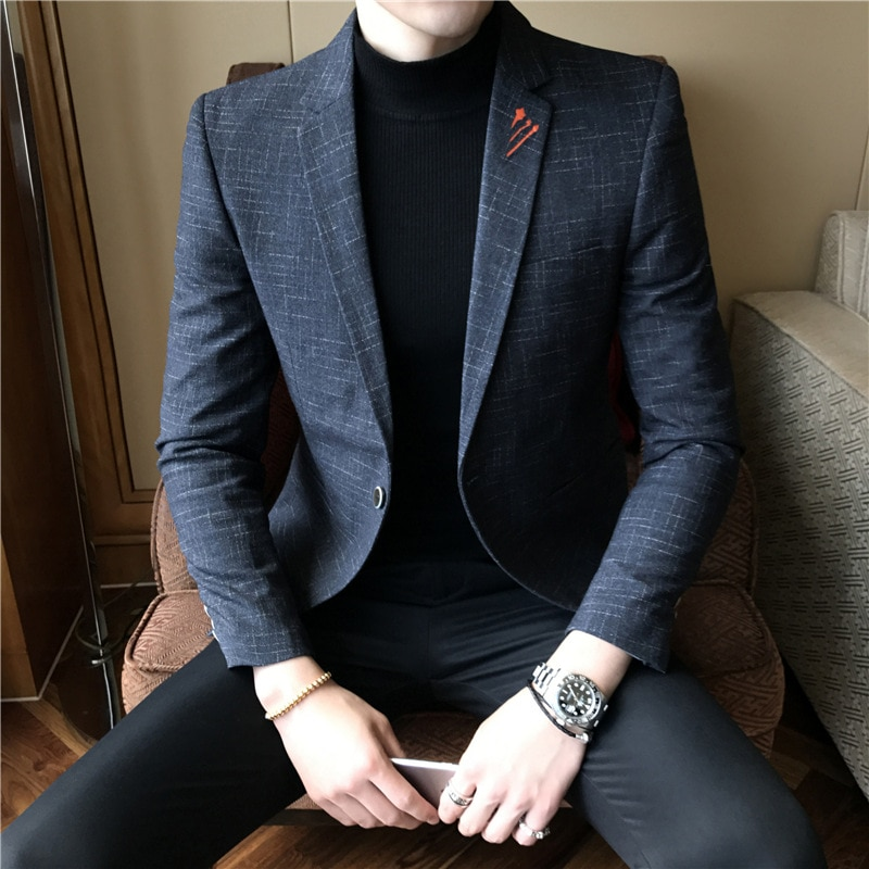 2018 New Style Mens Suit Trend Fashion Clothing Youth Spring And Autumn Slim Handsome Male Leisure Jackets & Coats