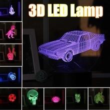 3D Nacht Licht Tier Bunte USB LED Lampe Neuheit Beleuchtung für Weihnachten Home Schlafzimmer Kinder Touchs Schalter Lampe