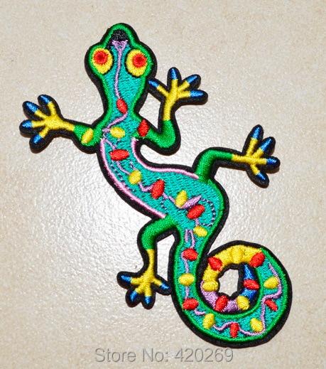 VENDA QUENTE! ~ Lagarto gekko salamander hippie retro hippy boho 70s ferro em remendos, costurar no remendo, apliques, pano, 100% qualidade