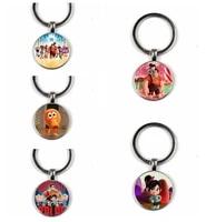invincible damage king glass keychain cartoon keychain handmade family photo private custom gift big head keychain