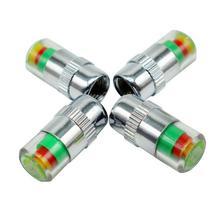Vexverm-capuchon de tige de Valve   Pneu Auto, moniteur de pression, pour voiture, indicateur dalerte oculaire, Kit doutils de Diagnostic, 4 pièces 2.4Bar 36PSI