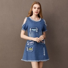 BOoDinerinle Sexy Beaded Denim Dress Women Casual Embroidery Sundress Beach Party Short Dresses Blue Cowboy Dress Tassels 2019