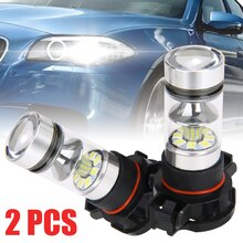 Mayitr 2pcs 12V 5202 H16 PS24W LED Licht 100W 6000K Witte Auto LED Head Light Dag -time Running Light Fog Lamp Voor Auto Lamp