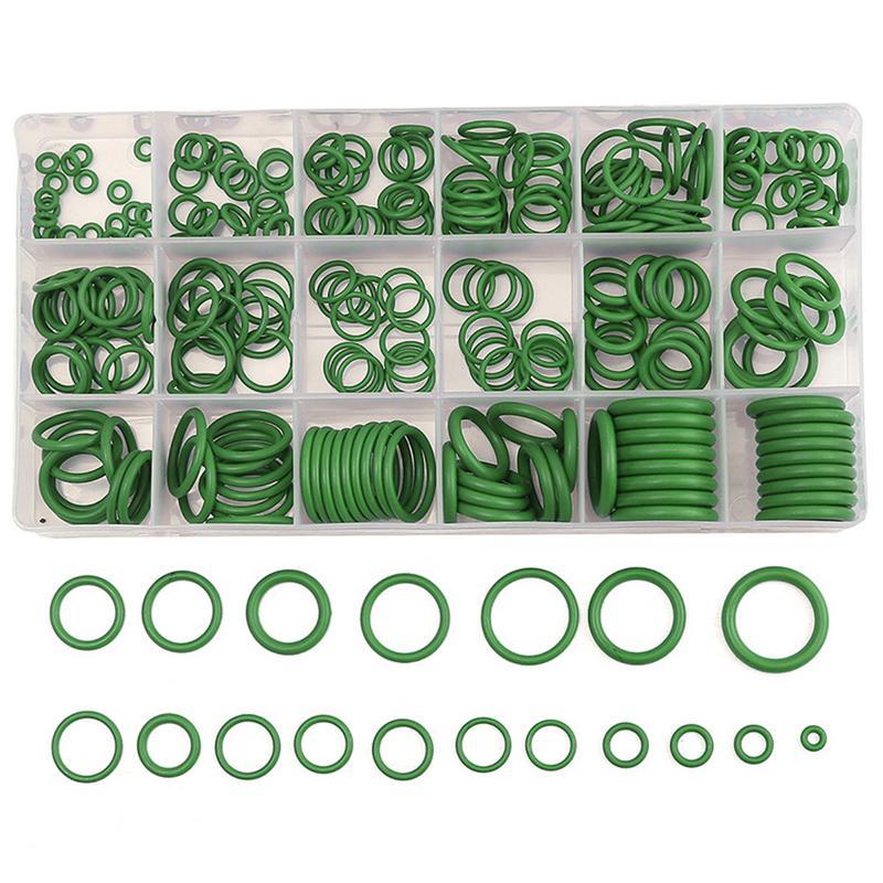 270 pc de aire acondicionado O anillo arandela de goma surtido para R22 R134A piezas estándar sello O-Ring juntas conjuntos