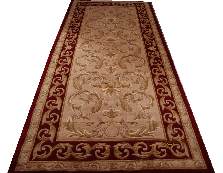 Francés antiguo alfombra Savonnerie tapete hecho a mano alfombra para dormitorio piso decoración redonda de lujo alfombra de estilo étnico lana Natural de oveja