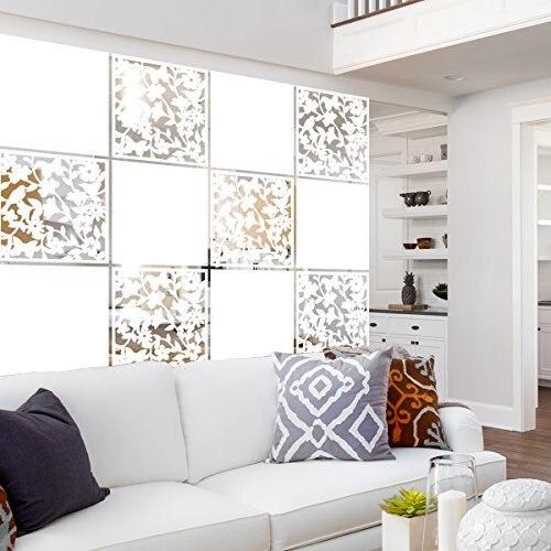 """12 pces sala de segurança pvc painel tela pássaro flor sala de estar, jantar, estudo, sala de estar, hotel e barra decoração 15.7 """"x 15.7"""" x 0.032"""""""