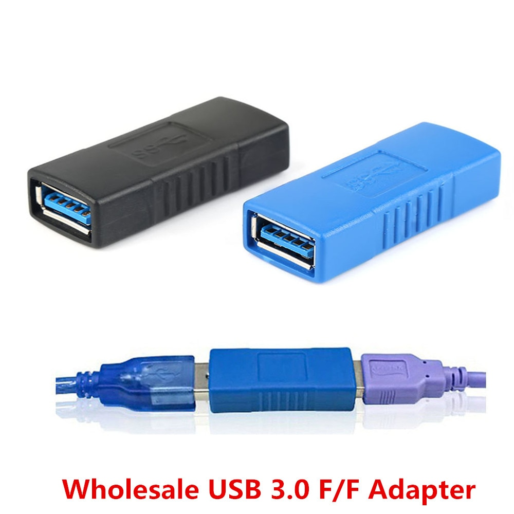 Venta al por mayor conector adaptador USB 3,0 tipo A hembra conector cambiador acoplador duradero para PC Laptop accesorio de ordenador