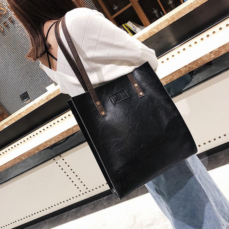 Женская сумка в европейском и американском ретро стиле, простой модный портфель, весна-осень 2019
