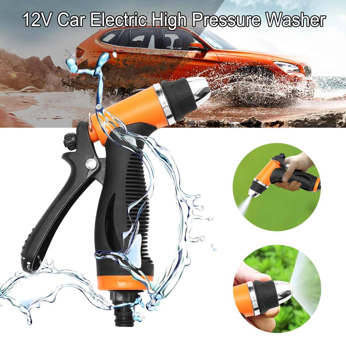 Universal portátil 12V 100W 160PSI coche lavadora eléctrica de alta presión autocebante coche lavadora encendedor Kit de bomba de agua