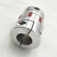 1 ud. Diámetro 55mm longitud 80mm acoplamiento Flexible de la abrazadera del ciruelo D55 L80 tamaño del eje de 10mm a 30mm CNC acoplamiento del eje de la mandíbula