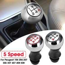 5 velocidade do carro mt alavanca alavanca shifter shift knob punho vara para peugeot 106 206 306 406 107 207 307 407