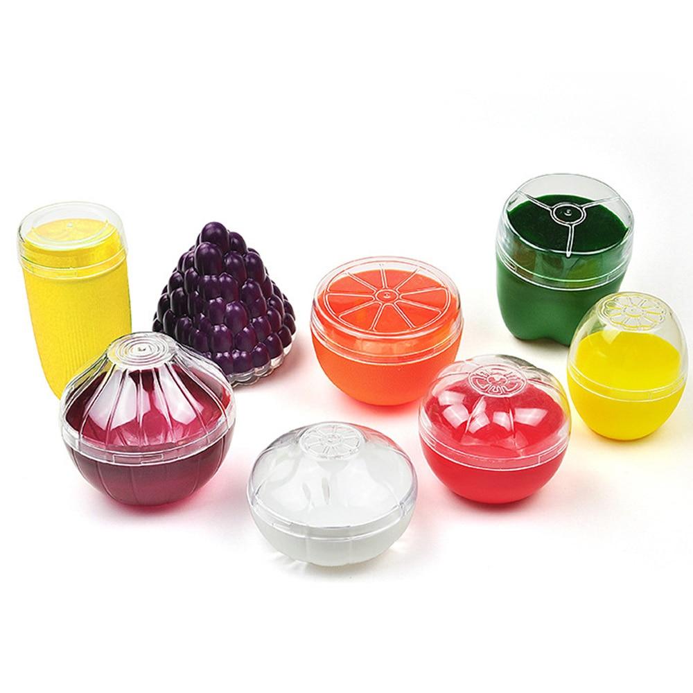 Милый Кухонный Контейнер для овощей и фруктов, контейнер для еды, лук, лимон, помидоры, зеленый перец, пластиковый чехол для хранения свежих фруктов