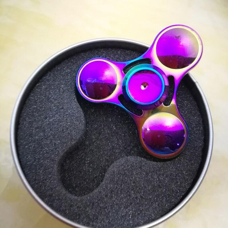 Tri-Spinner Fingert Gyro para el autismo, TDAH chico juguete