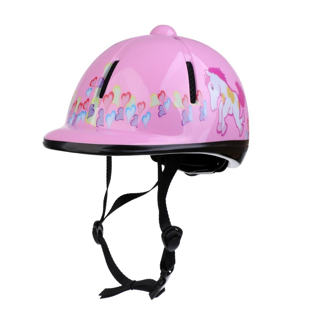 Crianças crianças equitação ajustável chapéu/capacete cabeça engrenagem protetora rosa