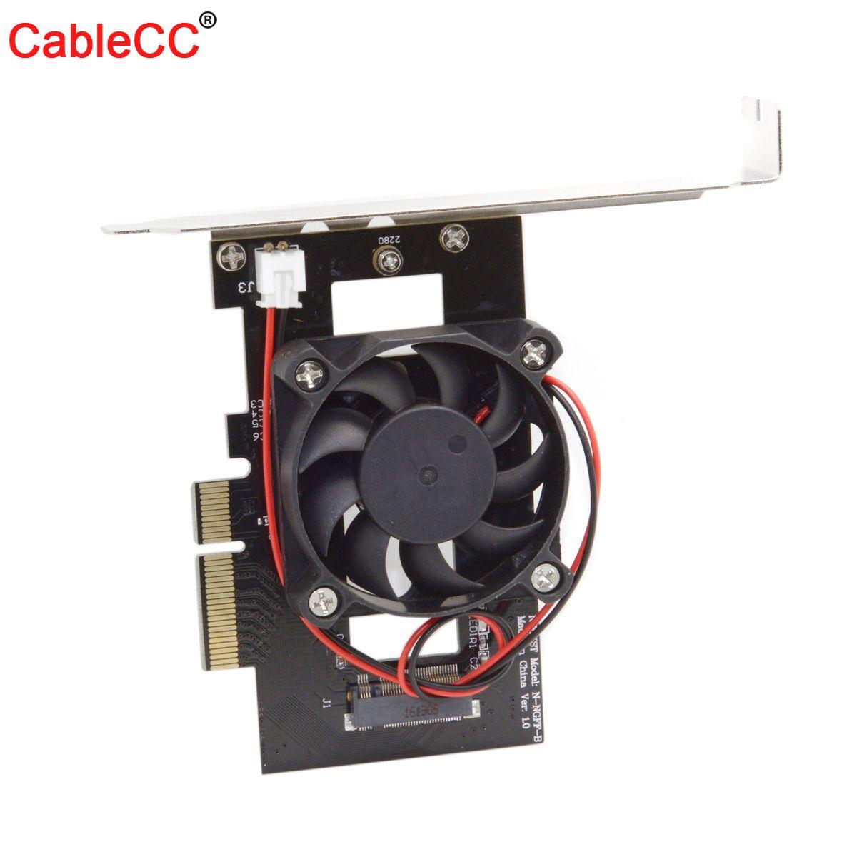 PCI-E 3,0x4 хост адаптер конвертер карта M.2 NGFF M ключ SSD в Nvme PCI Express с охлаждающим вентилятором