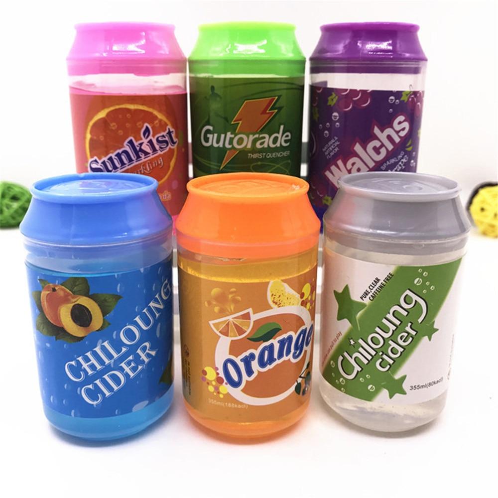 De cristal de arcilla puede barro de cristal transparente DIY de arcilla barro soplando burbujas hermoso Color arcilla juguetes anti estrés venta al por mayor