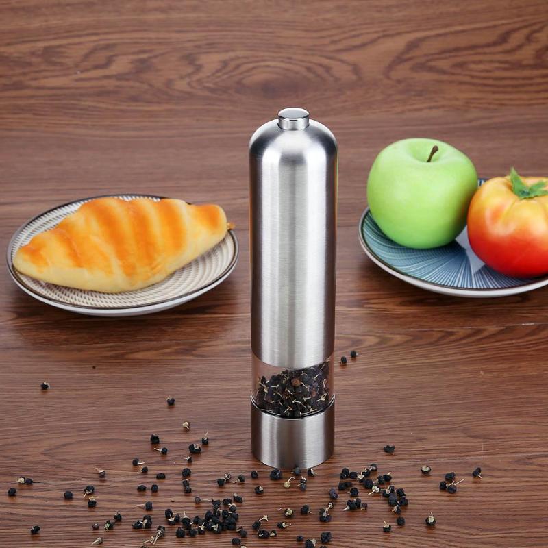 Molinillo Eléctrico inteligente de pimienta de acero inoxidable y ABS, molinillo de pimienta, especias, salsa, Molinillo, utensilios de cocina, Gadgets, barbacoa