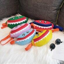 Los niños de la cintura Packs Durable lona Tote PANA bolso de hombro casual lindo Mini monedero Little Monster regalos para chico y chica