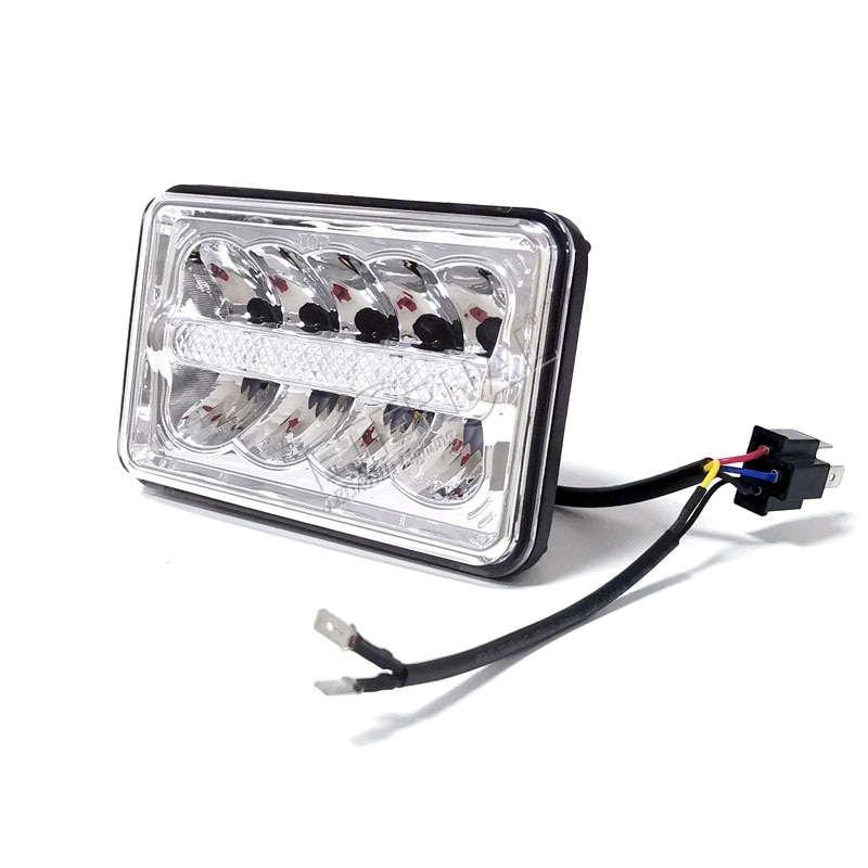 30pcs 4x6 Led headlights 45W Headlamp high beam drl Car accessories for auto motorcycle trucks transport classic cars enlarge