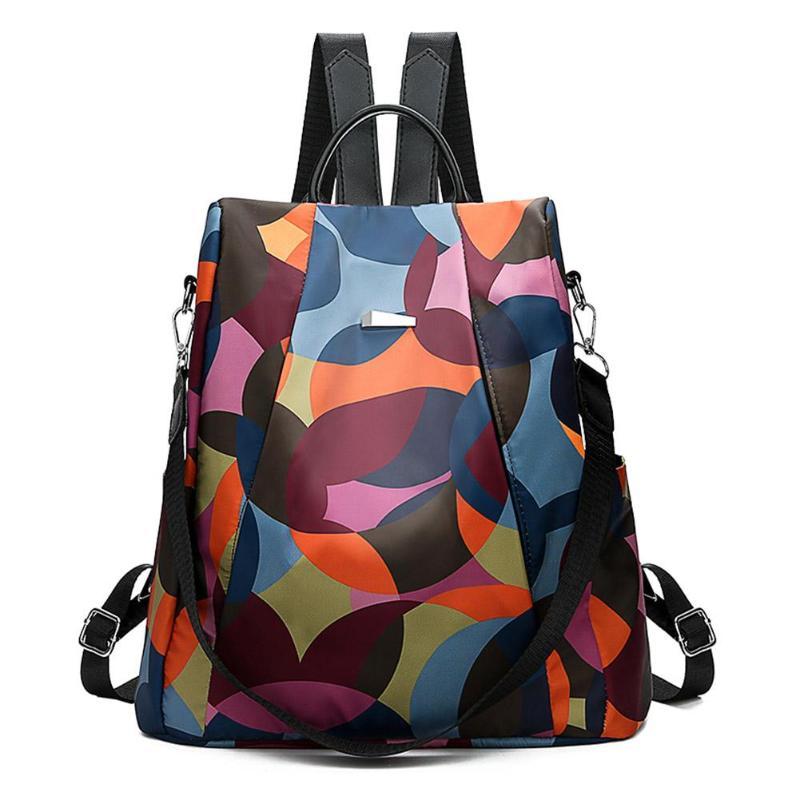 Rahat Oxford kumaş kadın sırt çantası Anti hırsızlık kızlar okul çantaları genç seyahat sırt çantası omuzdan askili çanta renkli moda büyük sırt çantası