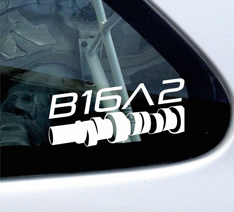 Adhesivo estilo cámara-para CRX, Civic EF, EG, EK VTi VTEC 1,6 DOHC 15cm