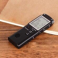 Gosear 8G HD большой экран цифровой MP3 диктофон с наушниками USB кабель телефонный адаптер микрофон для встречи Лекция