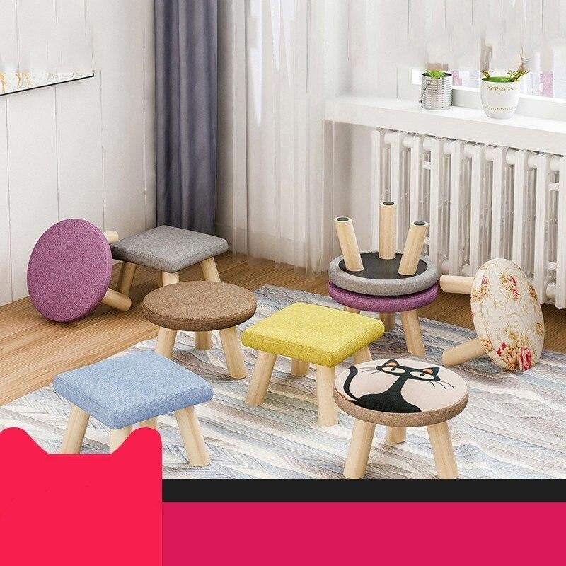 Стул для взрослых оригинальный маленький стул низкий из цельного дерева