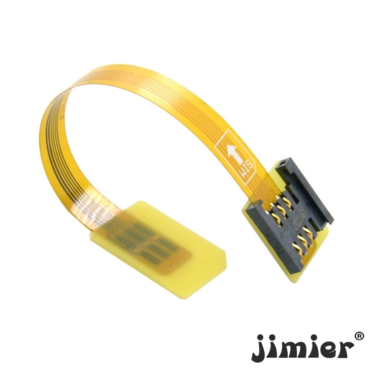 10 unids/lote Cablecc GSM CDMA estándar UIM tarjeta SIM Kit de extensión de macho a hembra plana suave FPC extensor de Cable 10cm