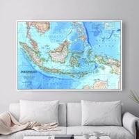 indonesia map quote wall pictures canvas art print poster for bed room decoration home decor picture no frame
