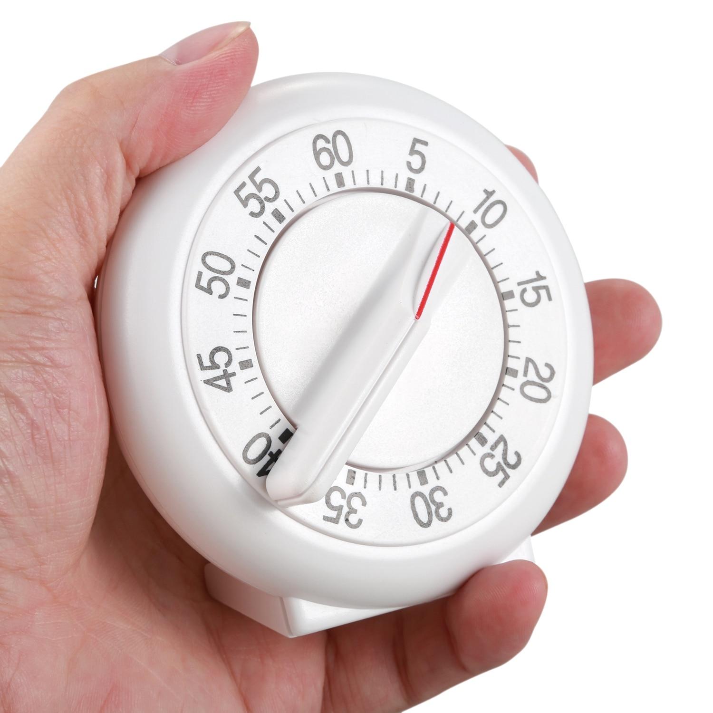Temporizador mecánico Digital de 60 minutos para cocina, reloj despertador blanco, herramientas de cocina para el hogar, reloj despertador con temporizador práctico