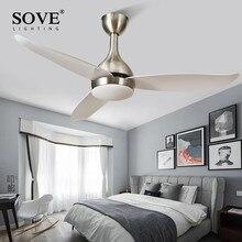 SOVE plafond moderne à LEDs ventilateurs avec lumières chambre maison noir plafonnier ventilateur lampe 220 volts ventilateur plafond blanc Ventilador De Teto